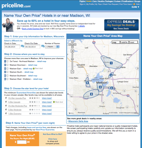 Priceline Inteface