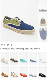 Recommendations of Urban Outfitters of similar products (this is not upsetting since the suggested items are not more expensive or profitable)