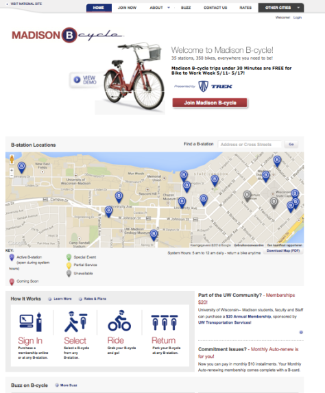 Madison B-Cycle Website