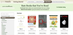 it's as easy as 1, 2, 3, 4. 1. find friends 2. select genres 3. rate books 4. view recommendations!