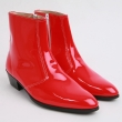 mens-inner-real-leather-western-glossy-red-side-zip-high-heel-ankle-boots-made-in-korea