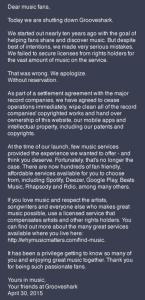 grooveshark screenshot website