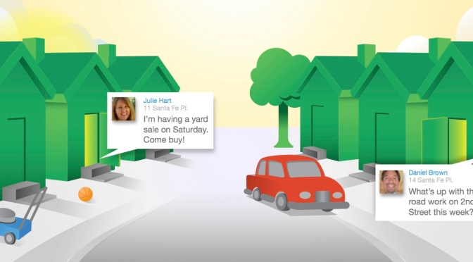 """Better a good neighbor than a far friend"". Nextdoor, the social network for your neighborhood."