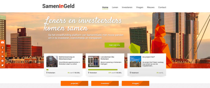 SamenInGeld, a crowdfunding platform for mortgages.